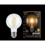 Лампа Gauss LED Filament G95 E27 6W 2700K 1/20
